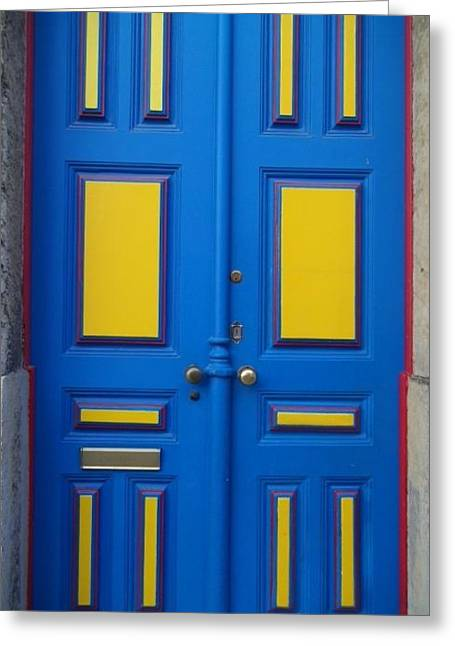 Frontdoor Greeting Cards - Front door in Lisbon Greeting Card by Richard Saylor