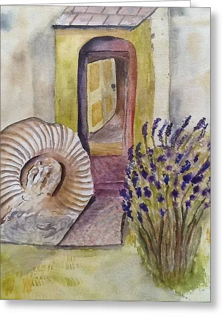 Mary King Greeting Cards - Front door Greeting Card by Mary King