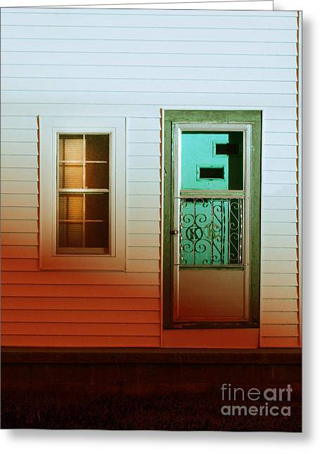 Screened Porchs Greeting Cards - Front Door of old House Greeting Card by Jill Battaglia