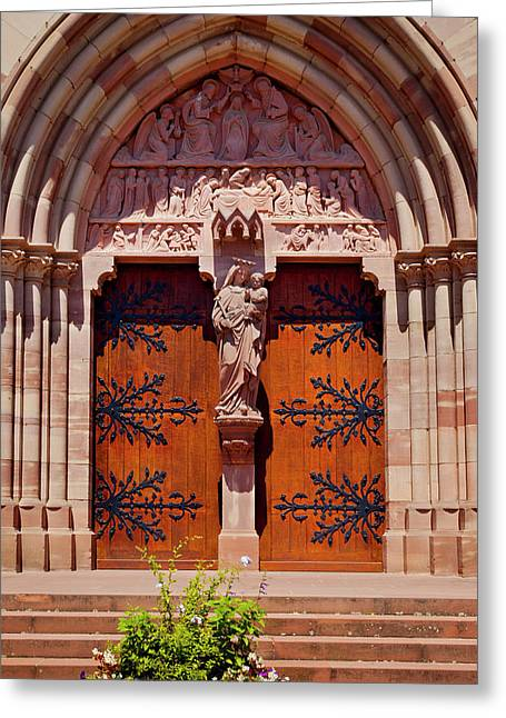 Front Door To Saint Pierre And Saint Greeting Card by Brian Jannsen