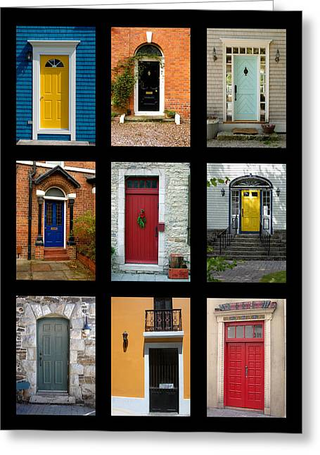 Norman Pogson Greeting Cards - Residential Front Door Collection Greeting Card by Norman Pogson