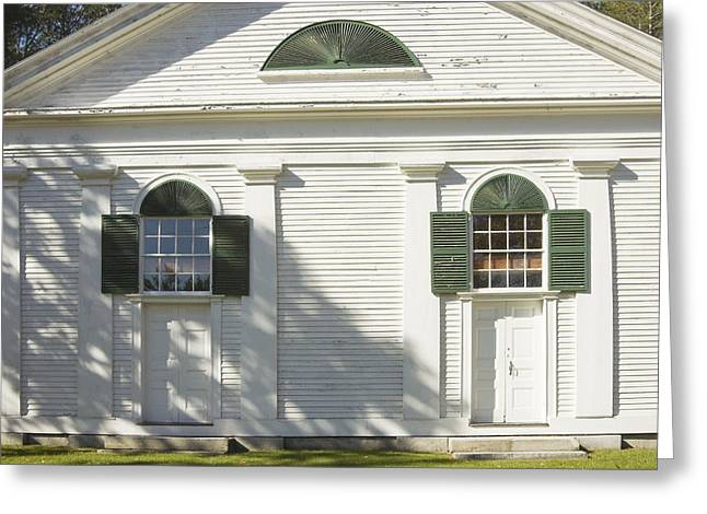 Traditional Doors Greeting Cards - Front Doors Of Old Country Church Greeting Card by Keith Webber Jr