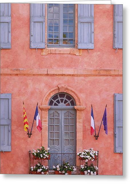 Front Facade Of The Hotel De Ville Greeting Card by Brian Jannsen