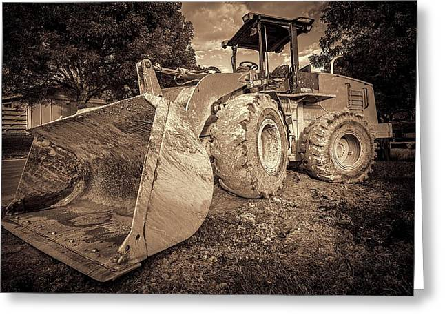 Dozer Greeting Cards - Front loader-1 Greeting Card by Rudy Umans
