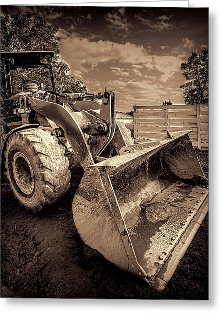Dozer Greeting Cards - Front loader-3 Greeting Card by Rudy Umans