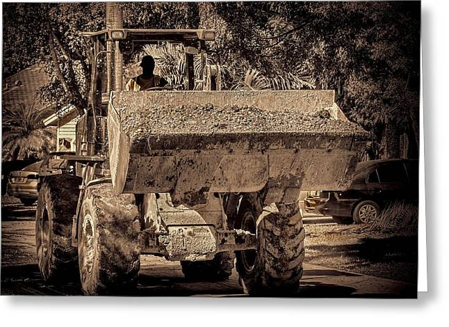 Dozer Greeting Cards - Front loader-5 Greeting Card by Rudy Umans