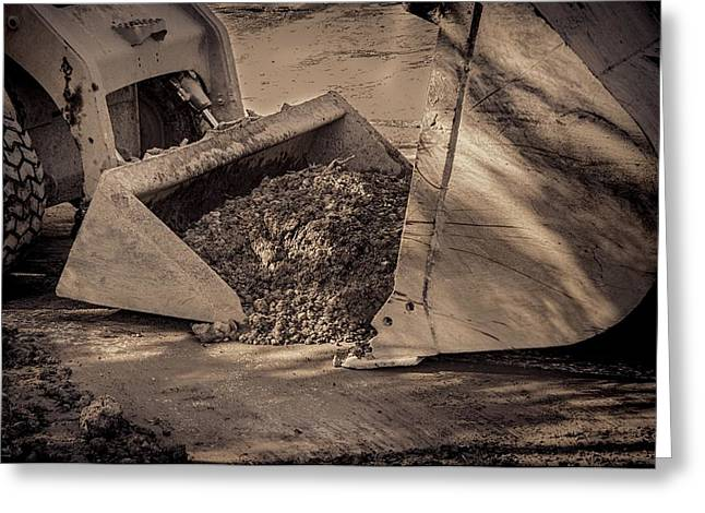 Dirt Pile Greeting Cards - Front Loader Buckets Greeting Card by Rudy Umans