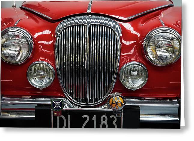 Front Of Mark I Jaguar Greeting Card by David Wall