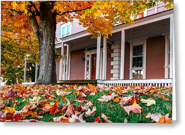 Old Maine Houses Greeting Cards - Front Porch Greeting Card by Andrew Dimmitt