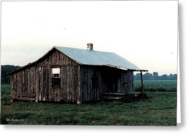 Sharecropper Greeting Cards - Front Porch Blues Greeting Card by Everett Bowers