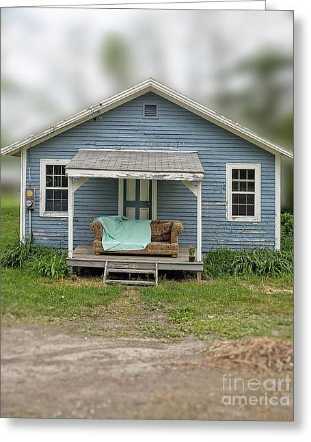 Miniature Effect Greeting Cards - Front porch comfort Greeting Card by Edward Fielding
