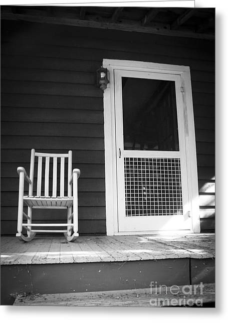 Screen Doors Greeting Cards - Front Porch Greeting Card by Jaclyn Burns