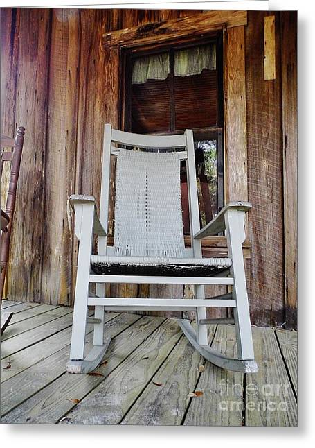 20th Greeting Cards - Front Porch Rocker Greeting Card by D Hackett
