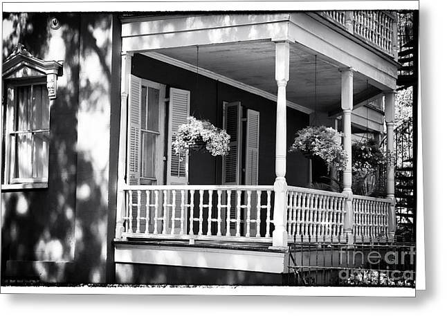 Front Porches Greeting Cards - Front Porch Style Greeting Card by John Rizzuto