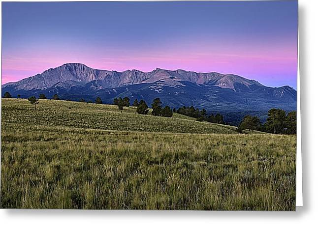 Pike Greeting Cards - Front Range First Light Greeting Card by Thomas Zimmerman