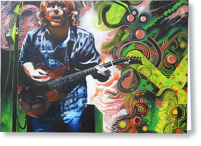Trey Anastasio Greeting Cards - Front Row at Bader Field Greeting Card by Kevin J Cooper Artwork