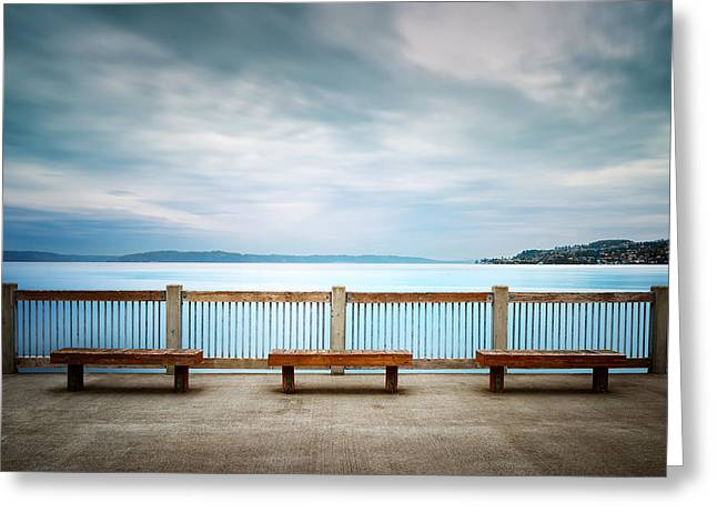 Commencement Bay Greeting Cards - Front Row Seating Greeting Card by Ryan Manuel