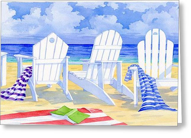 Beach Towel Greeting Cards - Front Row Seats Greeting Card by Paul Brent