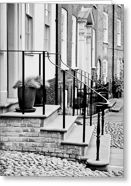 Front Steps Greeting Card by Tom Gowanlock