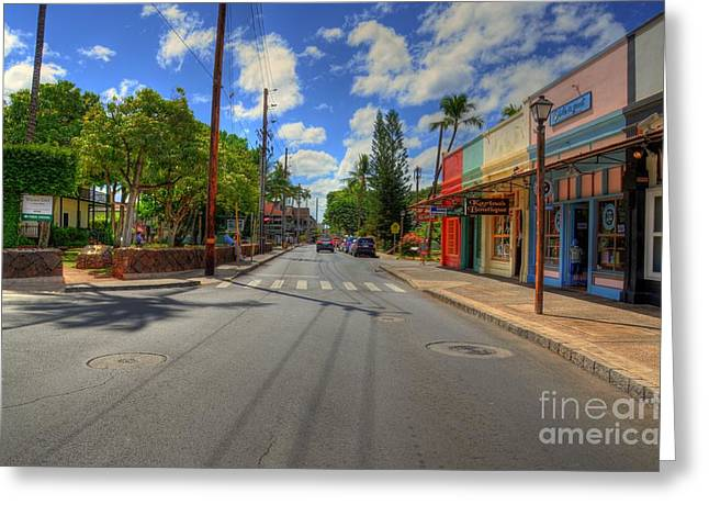Lahaina Greeting Cards - Front Street Lahaina Greeting Card by Kelly Wade