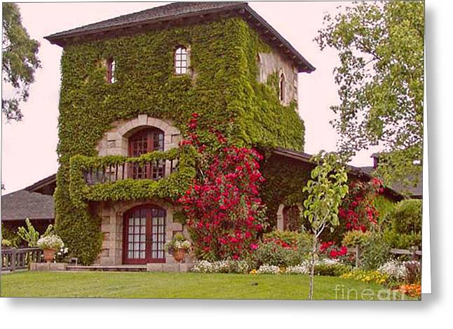 Tasting Rooms California Greeting Cards - Front View of V. Sattui Winery Greeting Card by Gail Salituri