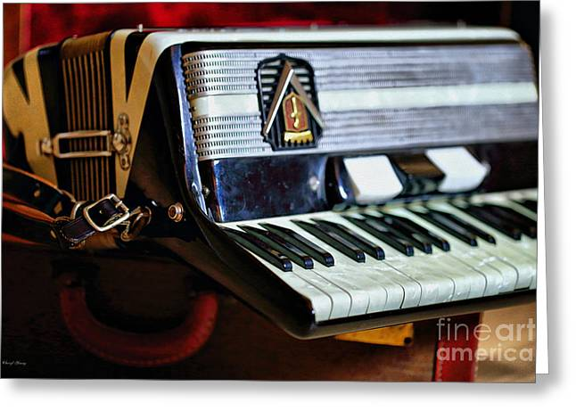 Straps Greeting Cards - Frontalini Accordian Greeting Card by Cheryl Young