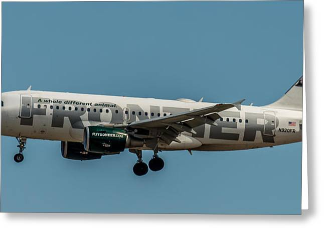 Frontier Airlines 737 Greeting Card by Paul Freidlund
