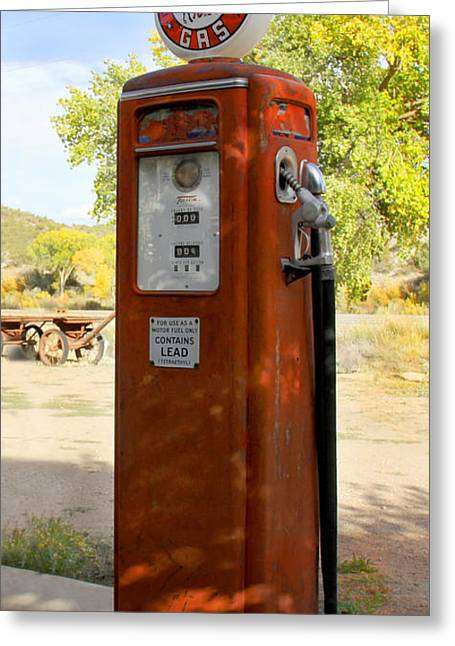 Frontier Greeting Cards - Frontier Gas - Tokheim Gas Pump Greeting Card by Mike McGlothlen