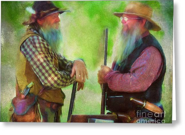 Sesquicentennial Greeting Cards - Frontier Men Greeting Card by Anna Surface