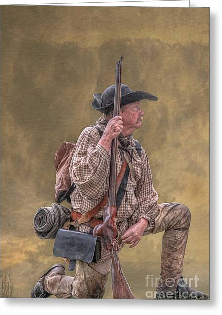 Rogers Rangers Greeting Cards - Frontiersman Golden Morning Greeting Card by Randy Steele