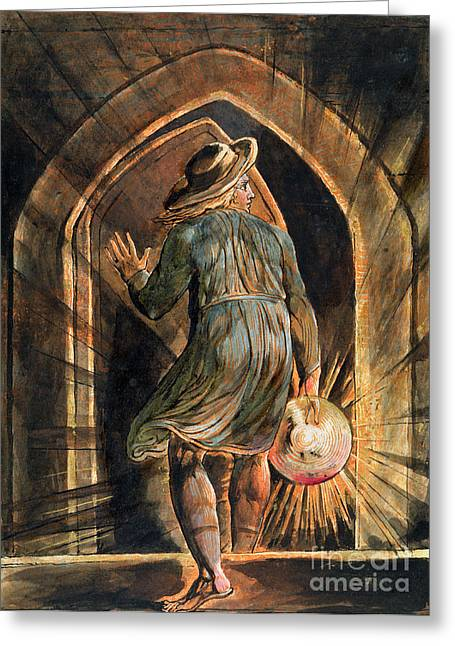 Front Steps Greeting Cards - Frontispiece to Jerusalem Greeting Card by William Blake