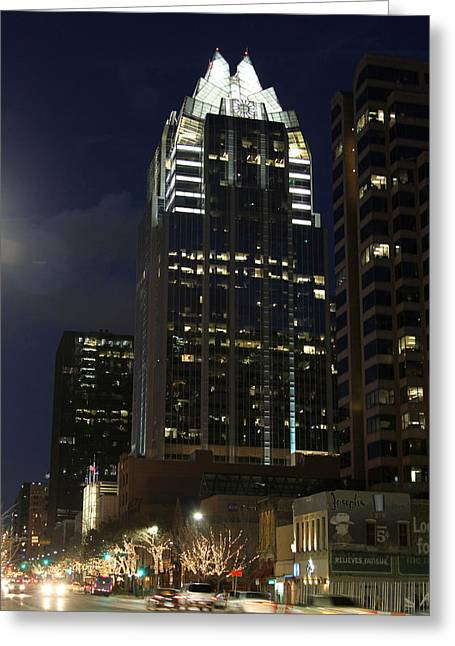 Frost Bank Building Greeting Cards - Frost Building Austin Greeting Card by Lenny Sharp