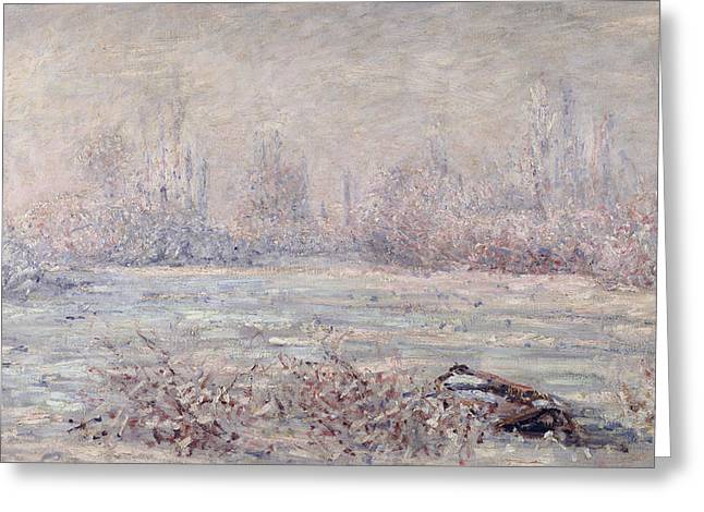 Vetheuil Greeting Cards - Frost near Vetheuil Greeting Card by Claude Monet