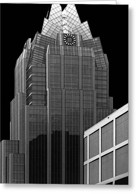 Austin At Night Greeting Cards - Frost Tower Greeting Card by Jim Smith