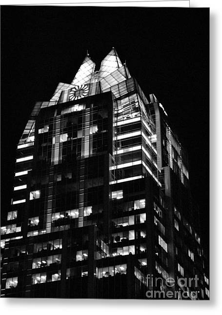 Frost Bank Building Greeting Cards - Frost Tower Greeting Card by Paul Wesson
