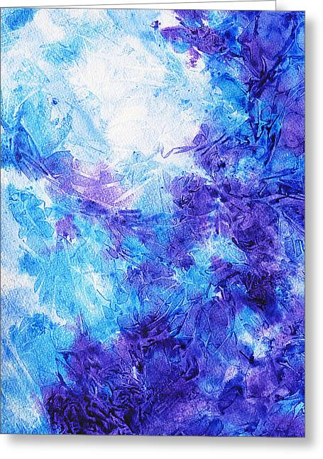 Technique Greeting Cards - Frosted Blues Fantasy I Greeting Card by Irina Sztukowski