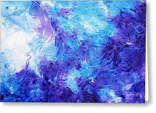 Technique Greeting Cards - Frosted Blues Fantasy II Greeting Card by Irina Sztukowski