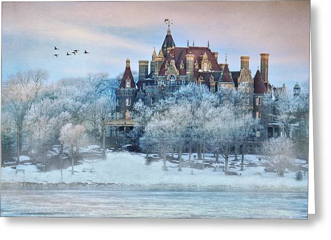 Bay St. Lawrence Greeting Cards - Frosted Castle Greeting Card by Lori Deiter