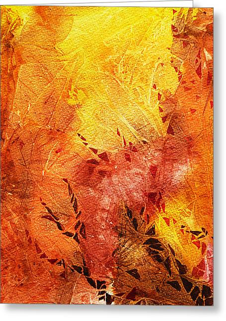 Abstract Expression Greeting Cards - Frosted Fire II Greeting Card by Irina Sztukowski