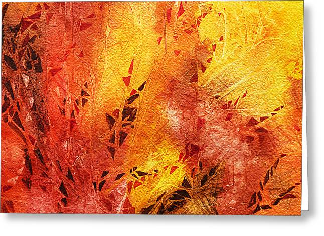 Abstract Expression Greeting Cards - Frosted Fire III Greeting Card by Irina Sztukowski