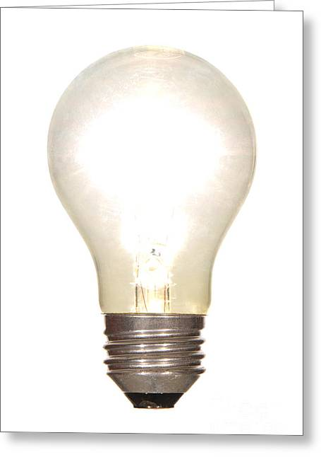 Bulb Greeting Cards - Frosted Light Bulb Greeting Card by Olivier Le Queinec
