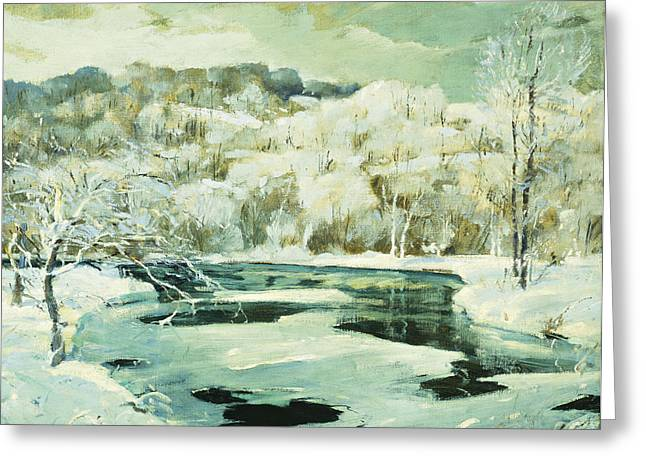 Frosted Trees Greeting Card by Jonas Lie