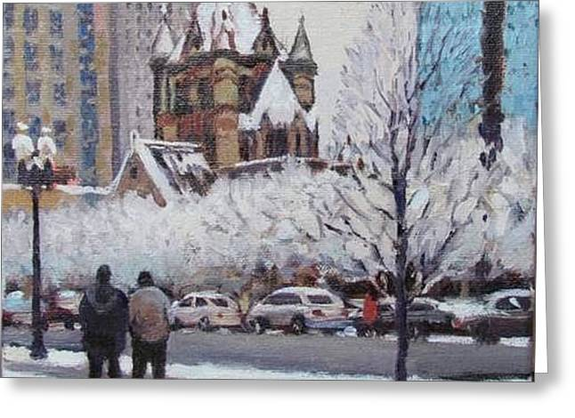 Frosted Trinity Greeting Card by Dianne Panarelli Miller