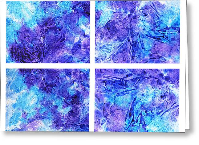 Abstractions Greeting Cards - Frosted Window Abstract Collage Greeting Card by Irina Sztukowski