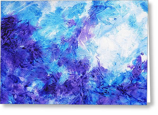Abstractions Greeting Cards - Frosted Window Abstract IV Greeting Card by Irina Sztukowski