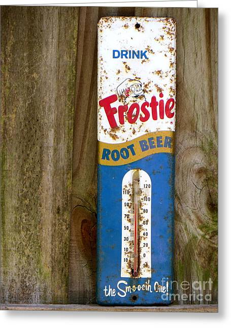 Frostie Root Beer  Greeting Card by Joy Hardee