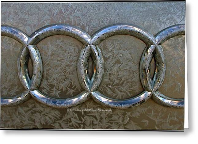 Frosty Audi Greeting Card by Catherine Melvin