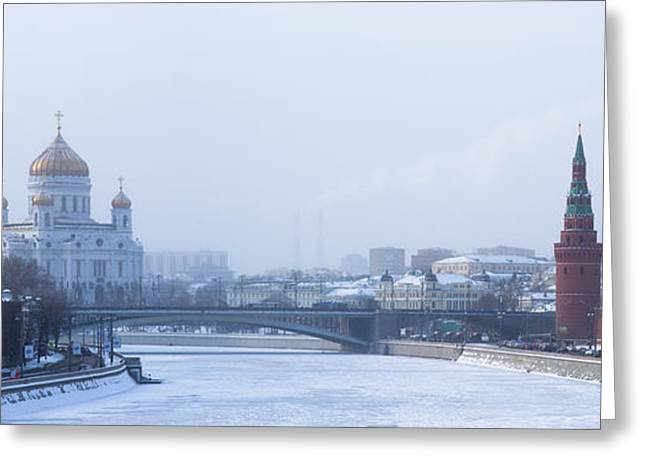 Christmas Greeting Greeting Cards - Frosty Day - Featured 3 Greeting Card by Alexander Senin