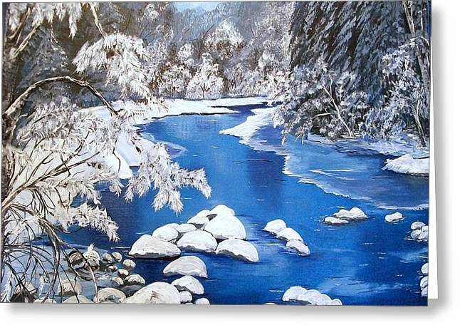 Frosty Morning Greeting Card by Sharon Duguay
