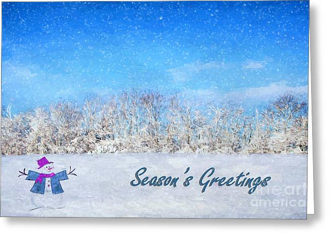 Wintry Photographs Greeting Cards - Frosty Seasons Greetings Greeting Card by Darren Fisher